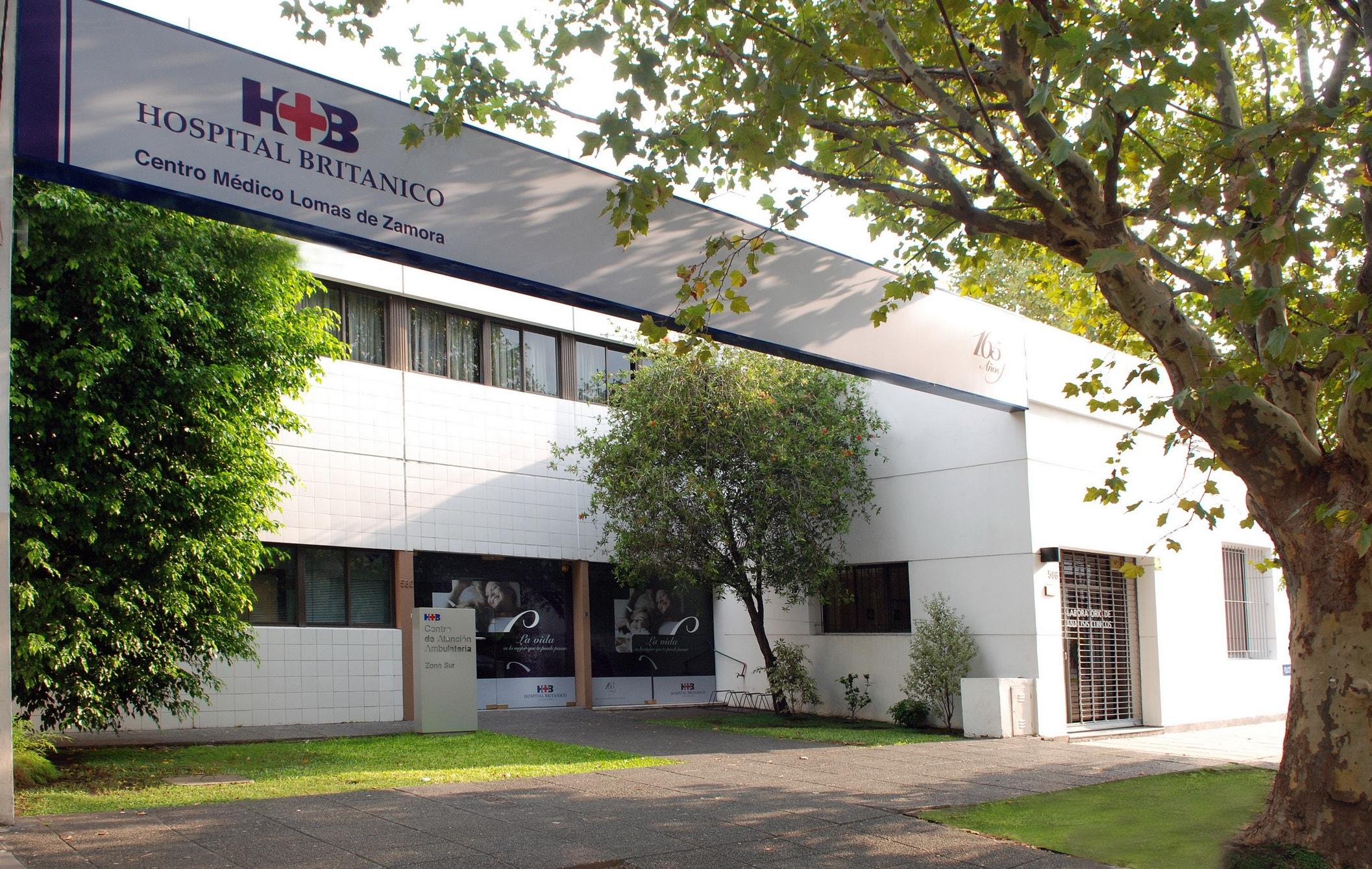 Fachada Hospital Británico Lomas de Zamora