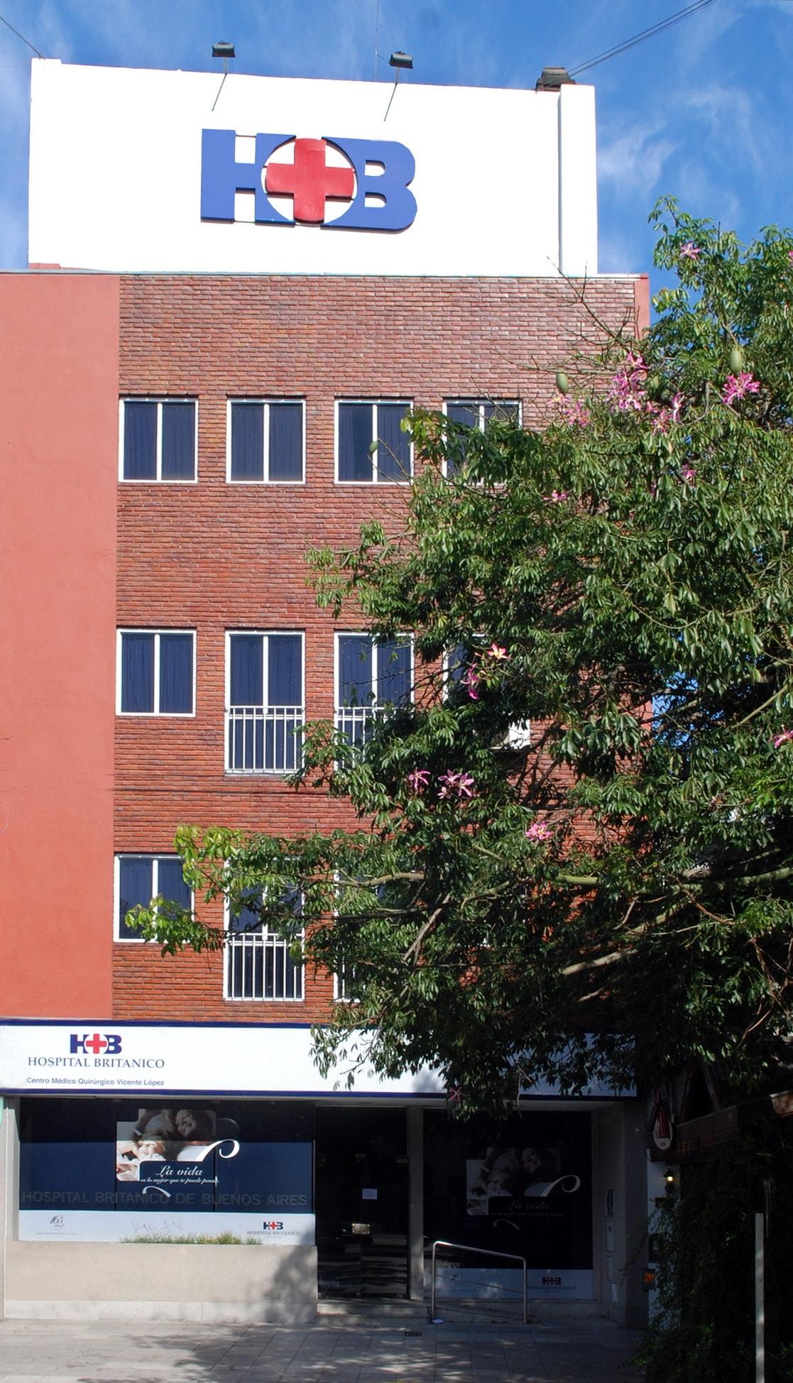 Hospital Británico Vicente López fachada